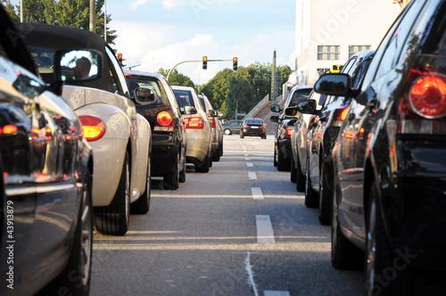 Stau Autos auf der Straße