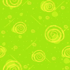 Sample texture with flowers on a green background