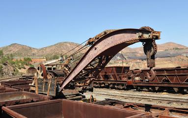 Vieja grúa ferroviaria
