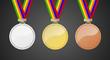 Set Medaillen Gold Silber Bronze