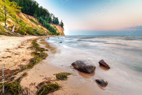 Zdjęcia na płótnie, fototapety na wymiar, obrazy na ścianę : Cliff of Orlowo at Baltic sea, Poland