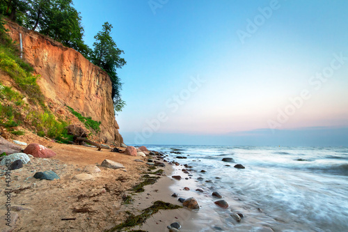 Cliff of Orlowo at Baltic sea, Poland - 43915613