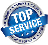 "Button Banner ""Top Service"" blau/silber"