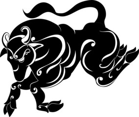 tattoo Taurus. Astrology sign. Vector zodiac