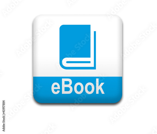 Boton cuadrado blanco eBook