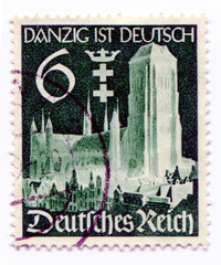 GERMANY - CIRCA 1938: A stamp printed in Germany   showing the c