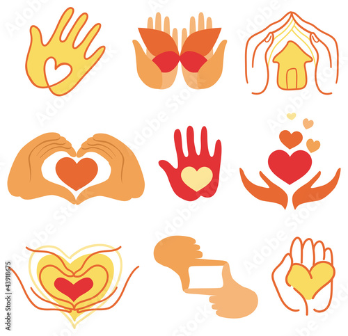 Vector collection of love signs