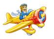 Cartoon plane with pilot