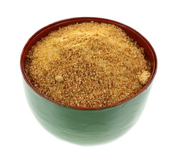 Coconut Palm Sugar Granules in Bowl