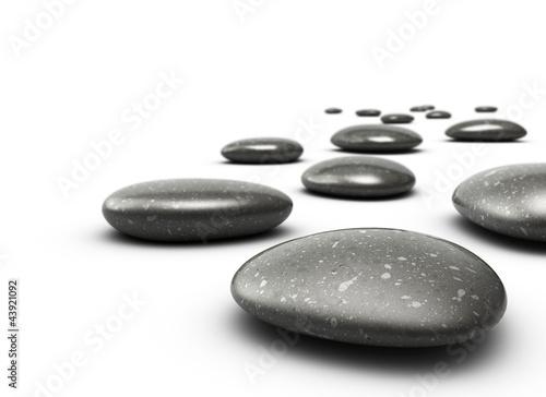Foto op Canvas Zen Galets décoratifs. Decorative pebbles