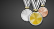 Medaillen Set Hintergrund schwarz