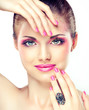 Fototapete Bestehen aus - Makeup - Frau