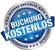 "Button Banner ""Buchung kostenlos"" blau/silber"