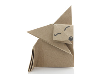Origami fox by recycle papercraft