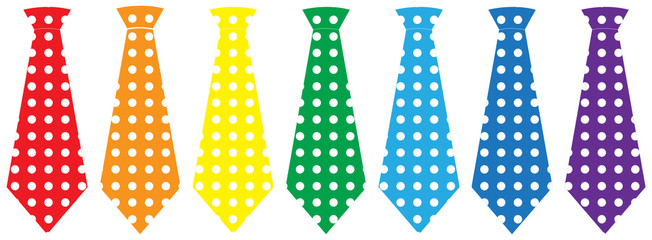 Tie set, vector illustration