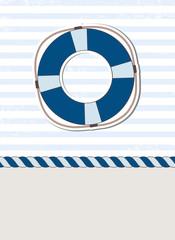 Nautical background with lifebuoy