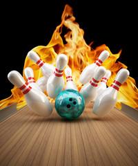 Bowling Strike Feuer