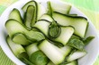 fresh zucchini - salad with basil