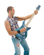 guitarist palying electric guitar