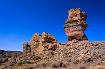 Famous rocks of Roques de Garcia, Teide National Park, Tenerife