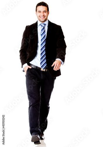 Business man walking
