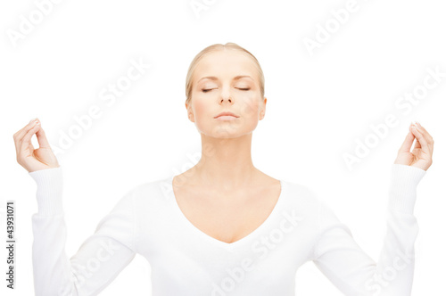 woman in meditation