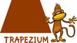 trapezium shape with cartoon monkey