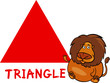 triangle shape with cartoon lion