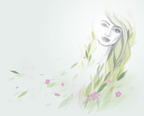 Woman like tree / Personification of Nature poster