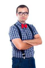 Self-confident nerd