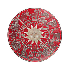 Red horoscope wheel