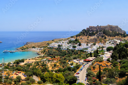 Lindos and its ancient acropolis, Greece