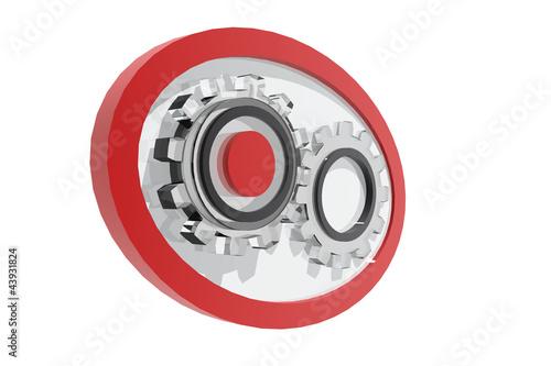 Logotipo con piezas de engranaje