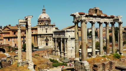 Ruins of the Roman Forum. Italy.