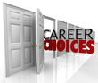 Career Choices Words Many Doors Opportunities Jobs