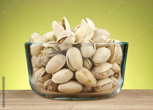Pistachios in bowl