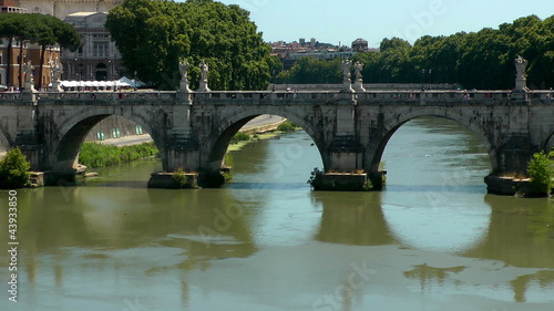 Castle Saint Angel. Tiber river, Rome. Italy.