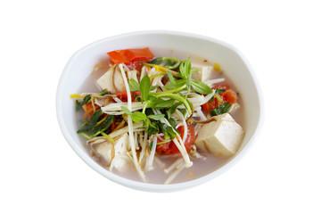 Enoki and Topu Soup