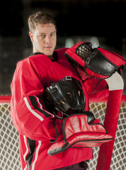 Goalie portrait