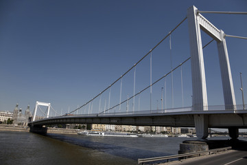 New bridge at budapest hungary
