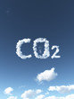 canvas print picture - cloudy co2