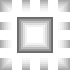 Square frame with dots