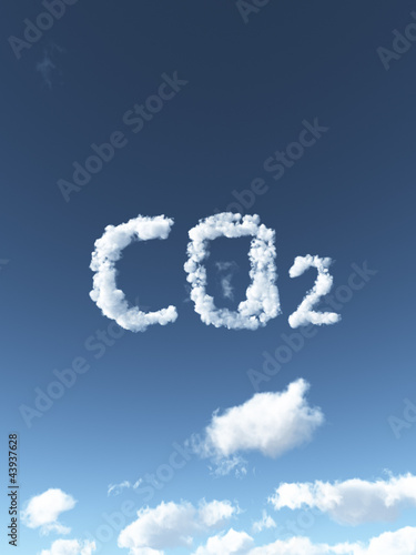 canvas print picture cloudy co2