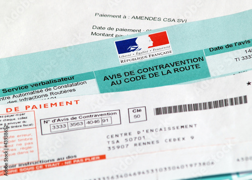 Avis de contravention code de la route