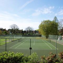 Local Community Tennis Court View