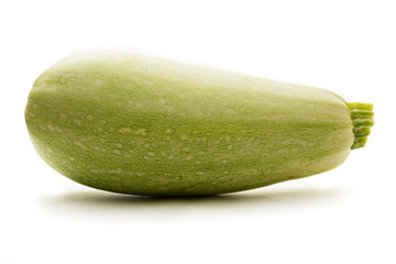 Green marrow on white background