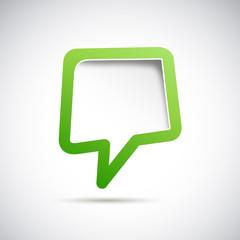 Cover speech in green # Vector