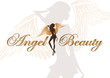 angel beauty vector logo