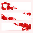 3 Abstract Heart Banner Red