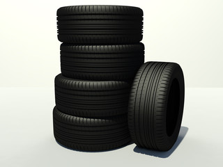 tire five pieces